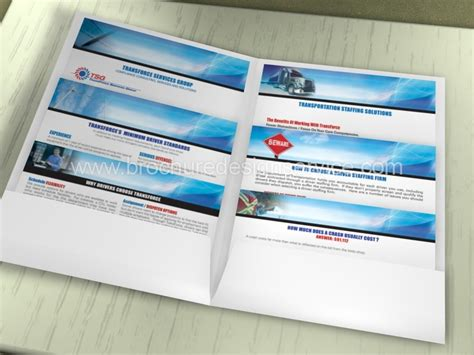 brochure for logistics company brochure designers