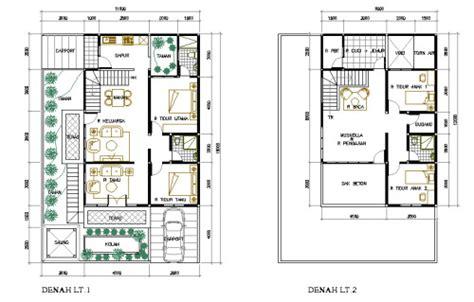 layout rumah islami denah rumah minimalis 2 lantai