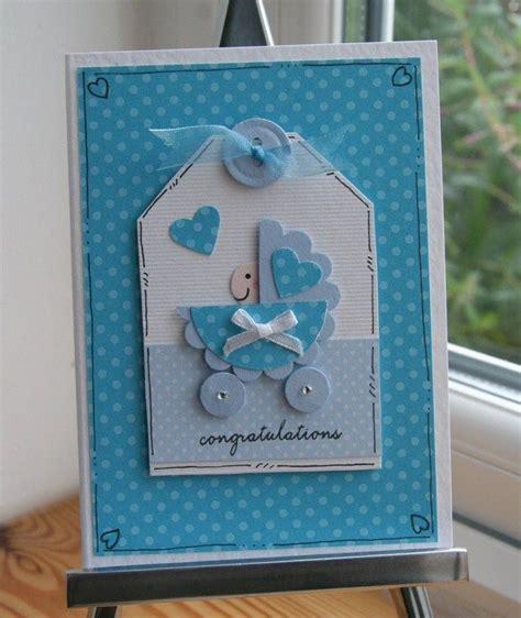 boy card ideas baby boy in a pram congratulations card