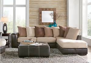 Rooms To Go Living Room Gregory Beige 3 Pc Sectional Living Room Living Room Sets