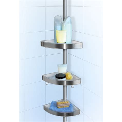 floor to ceiling tension l lloyd pascal floor to ceiling shower tension caddy chrome