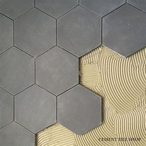 Grey Hexagon Floor Tile by Cement Tile Shop Encaustic Cement Tile Pacific Grey