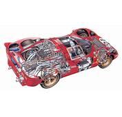 Race Car Cutaways Ferrari Ford Lancia Chaparral