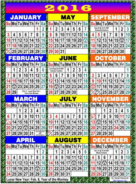 printable calendar usa 2016 2016 usa japanese international calendars pdf kindle
