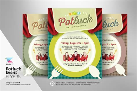 Potluck Flyer Template by Potluck Event Flyer Template Flyer Templates Creative