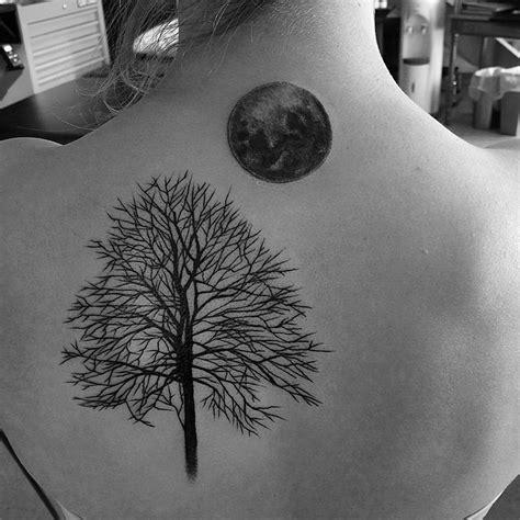 moon and tree tattoo 90 wonderful moon tattoos