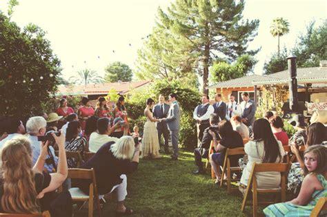arizona diy backyard wedding