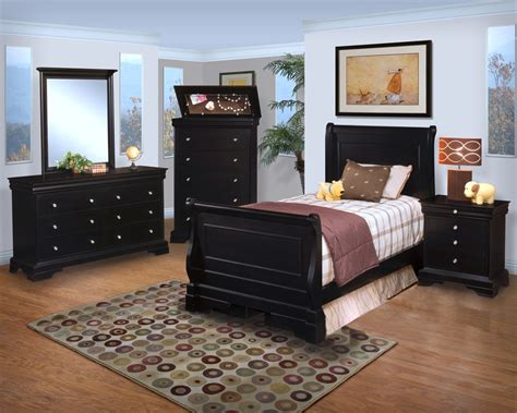 Belle Rose Bedroom Set | belle rose black cherry youth sleigh bedroom set from new