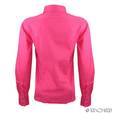 Blouse Jumbo Motif Cutting 4098 fitted sleeve blouse chiffon blouse pink