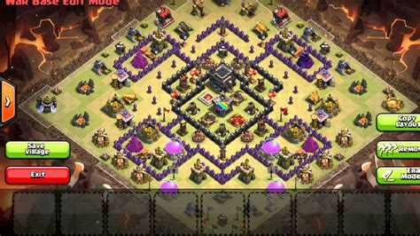 latest clash of clans th9 base layouts war clans clash of clans new update non lurable heros best th9 wa