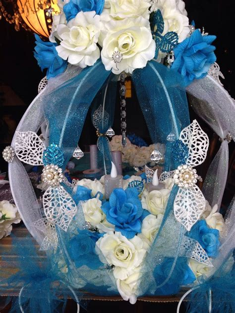 cinderella table quince carriage pearl floral
