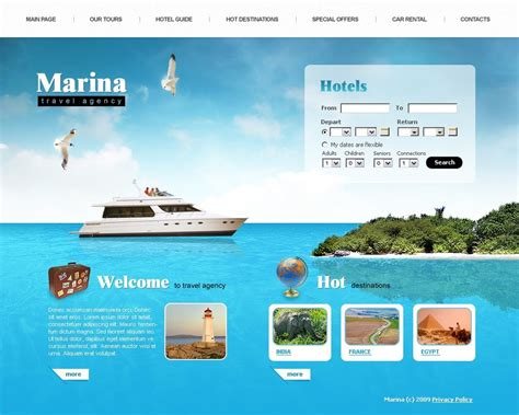 Travel Agency Swish Template 23720 Travel Template