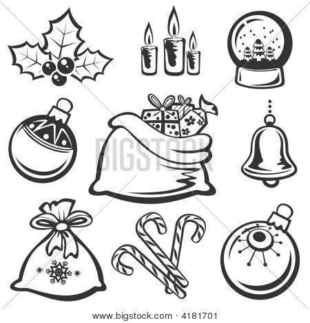 coloring pictures of christmas symbols christmas symbols image photo bigstock