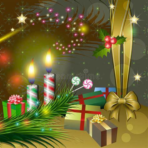 immagini candele natale decorazioni decorazione di natale con le candele i regali e l