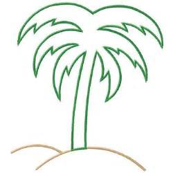 outlines embroidery design palm tree outline from gunold