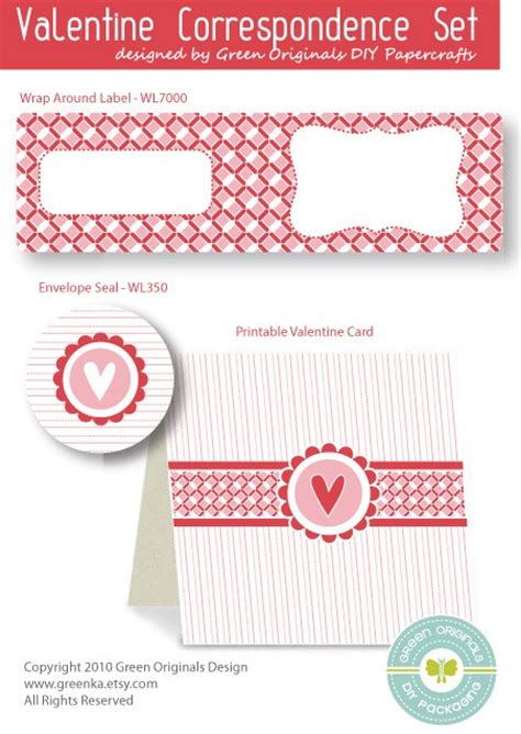 valentines card template pdf card labels correspondence set free fillable