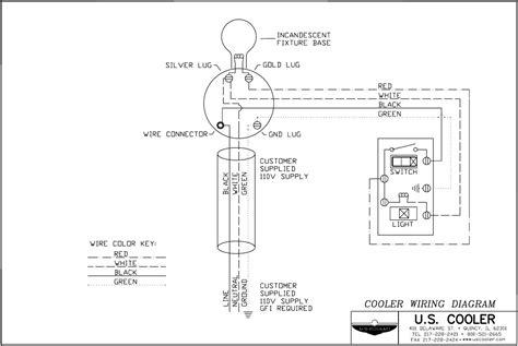 diagram cooler wiring diagram for refrigerator and