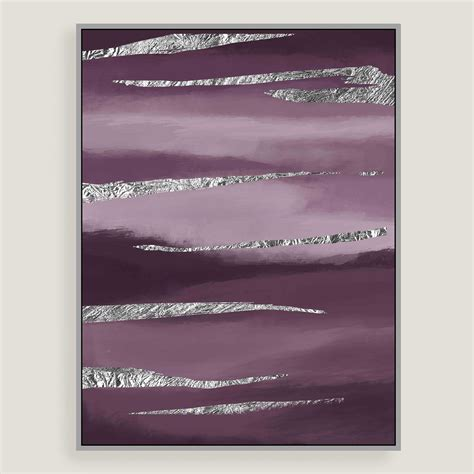 Online Shopping For Kitchen Furniture Purple Dreams Canvas Wall Art With Silver Leaf World Market