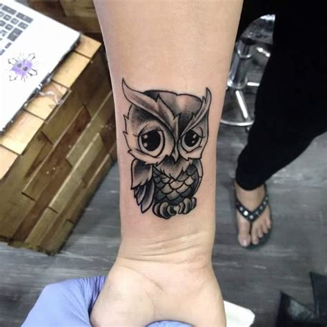 shaded wrist tattoos 70 best baby owl designs ideas with meanings