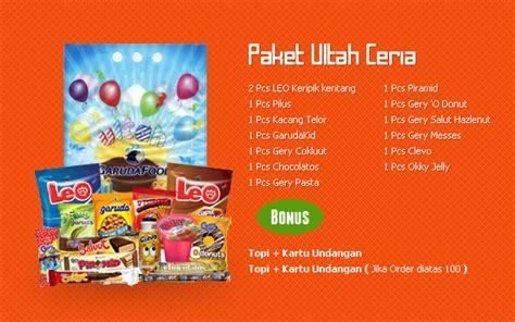 Garudafood Paket 2 meriahkan pesta ulang tahun bersama garudafood idjo zone