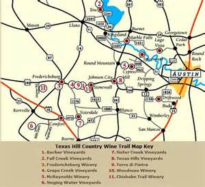 map of hill country area hill country wine map around fredericksburg tx