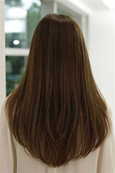 hair cut with a defined point in the back long haircuts for women back view google search hair