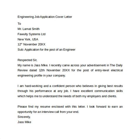 how to write a engineering cover letter application cover letter 10 free sles exles format