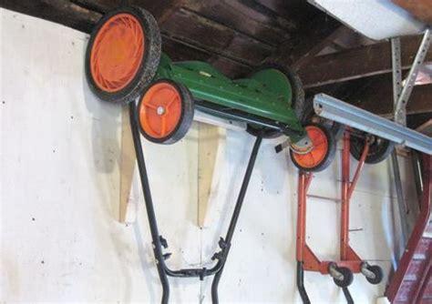 Garage Storage For Lawn Mower Garage Storage Ideas