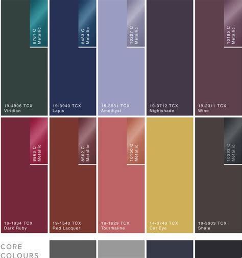 trending color palettes for 2017 233 best 2017 18aw colors images on pinterest