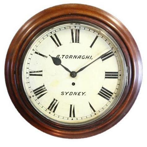 angelo tornaghi wall clock from australian history