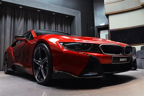 custom lava red bmw   dripping hot carscoops
