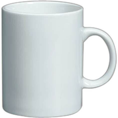 plain sided mug white vitrified porcelain plain
