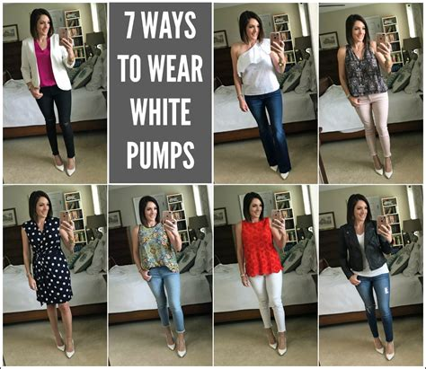 7 Ways To Wear Eyelet by 7 Ways To Wear White Pumps