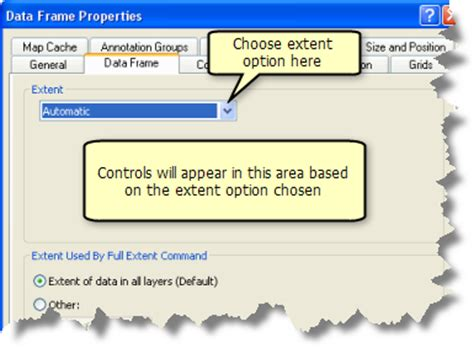 arcgis desktop setting arcmap layout size based on web customizing your map extent help arcgis for desktop