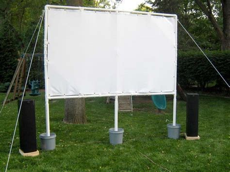 backyard theater screen summer diy build a backyard theatre
