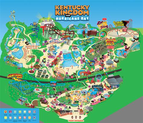 kentucky attractions map park map kentucky kingdom and hurricane bay