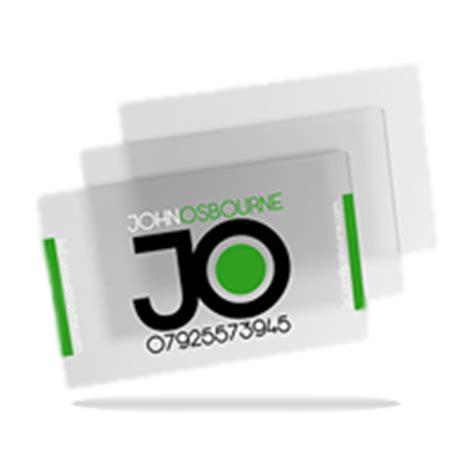 transparent business card template