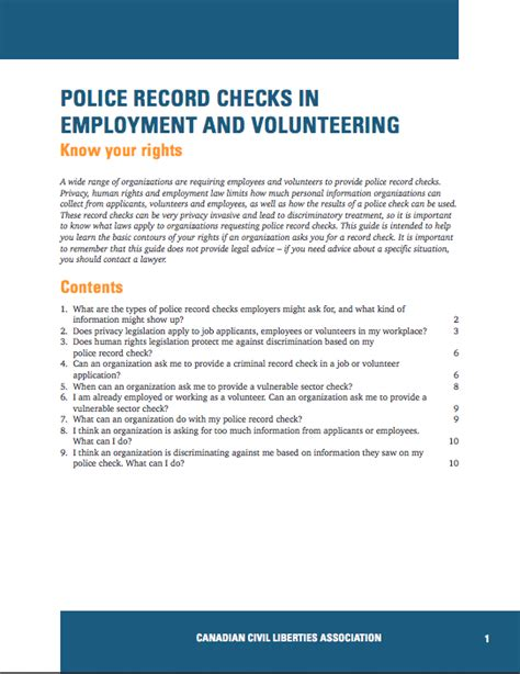 Can Employers Discriminate Based On Criminal Record Record Checks In Employment And Volunteering Your Rights