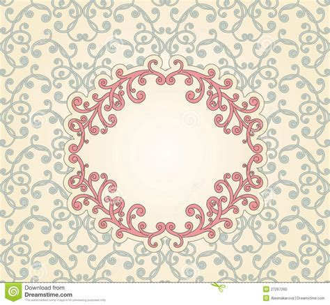imágenes flores vintage floral seamless pattern with floral frame stock photo