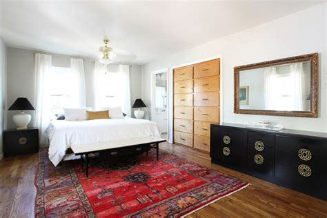 persian rug bedroom mid century eclectic midcentury bedroom austin by