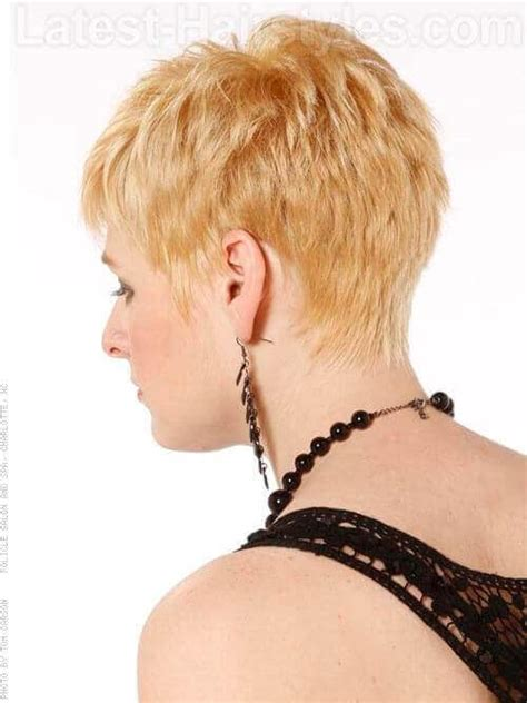 pixie haircut with a shag cut in back time to write pixie shag