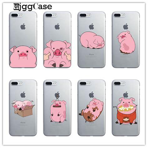 gravity falls waddles pink pig case  iphone
