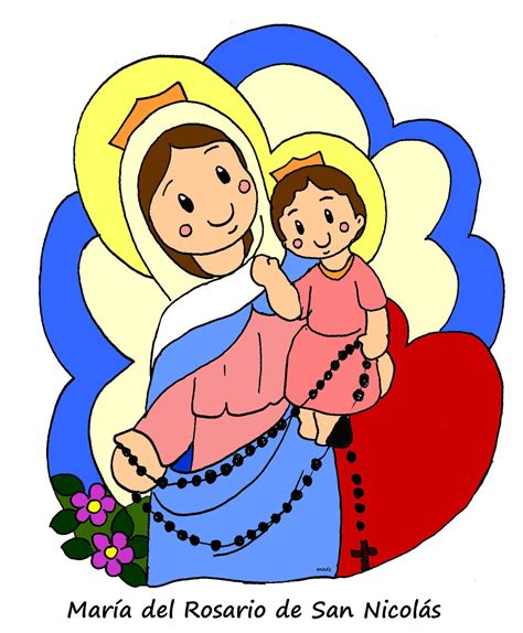 imagenes virgen maria caricatura mis ilustraciones nuestra se 241 ora del rosario de san nicol 225 s