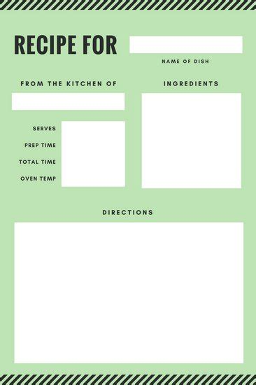 Customize 9 482 Recipe Card Templates Online Canva Recipe Template