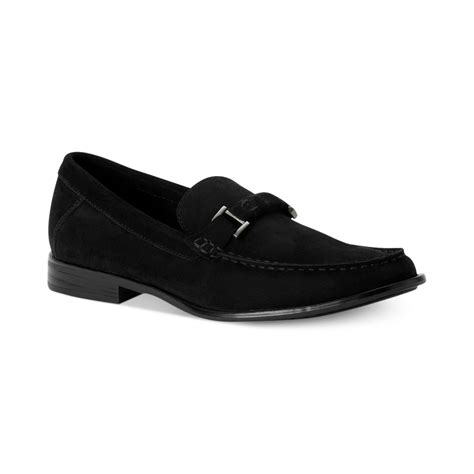loafers calvin klein calvin klein sson bit loafers in black for lyst