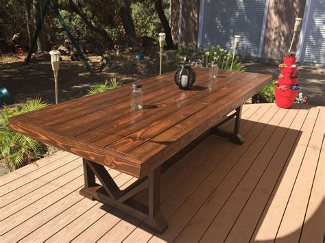 diy large outdoor dining table seats   hometalk