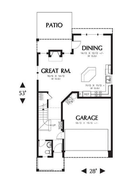 the suburban craftsman 9232 4 bedrooms and 3 baths the 50 best narrow lot plans images on pinterest floor plans