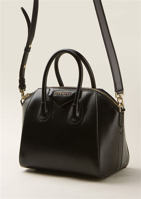 Givency Antigona Mini givenchy black leather mini antigona bag in black lyst