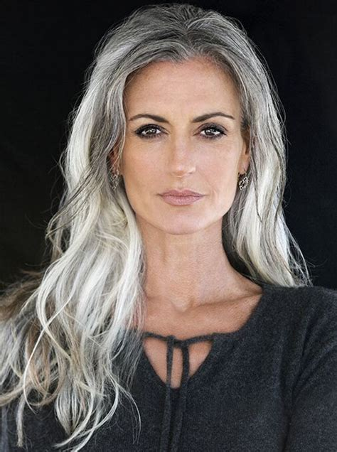 best haircolor for 52 yo white feamle 2015 best hot women with gray silver hair images on pinterest