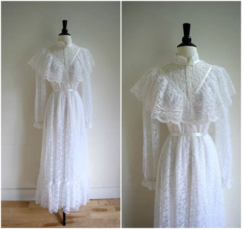white retro wedding dresses vintage style white sleeved wedding gown